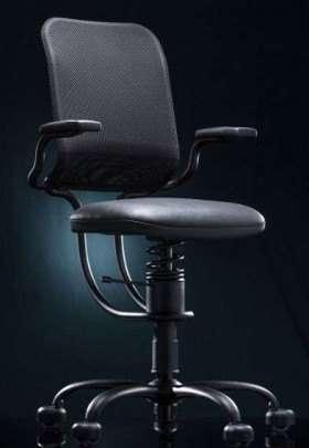 Pisarniški stol Ergonomic v črni barvi