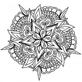 Prelepa mandala v obliki rože