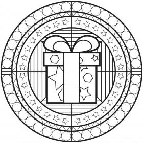Mandala škatla v krogu