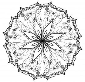 Mandala v obili cveta