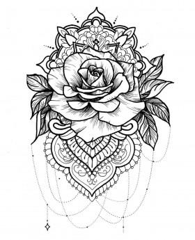 Mandala v obliki rože