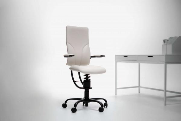 Pisarniški stol Apollo bele barve