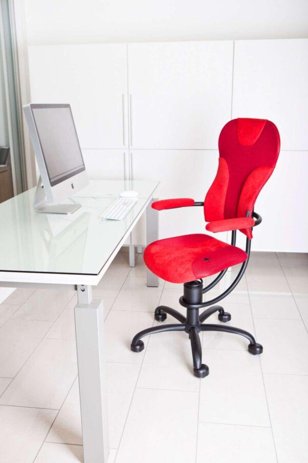 Pisarniški stol Spider rdeče barve