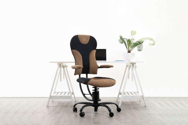 Pisarniški stol Spider v črno rjavi kombinaciji